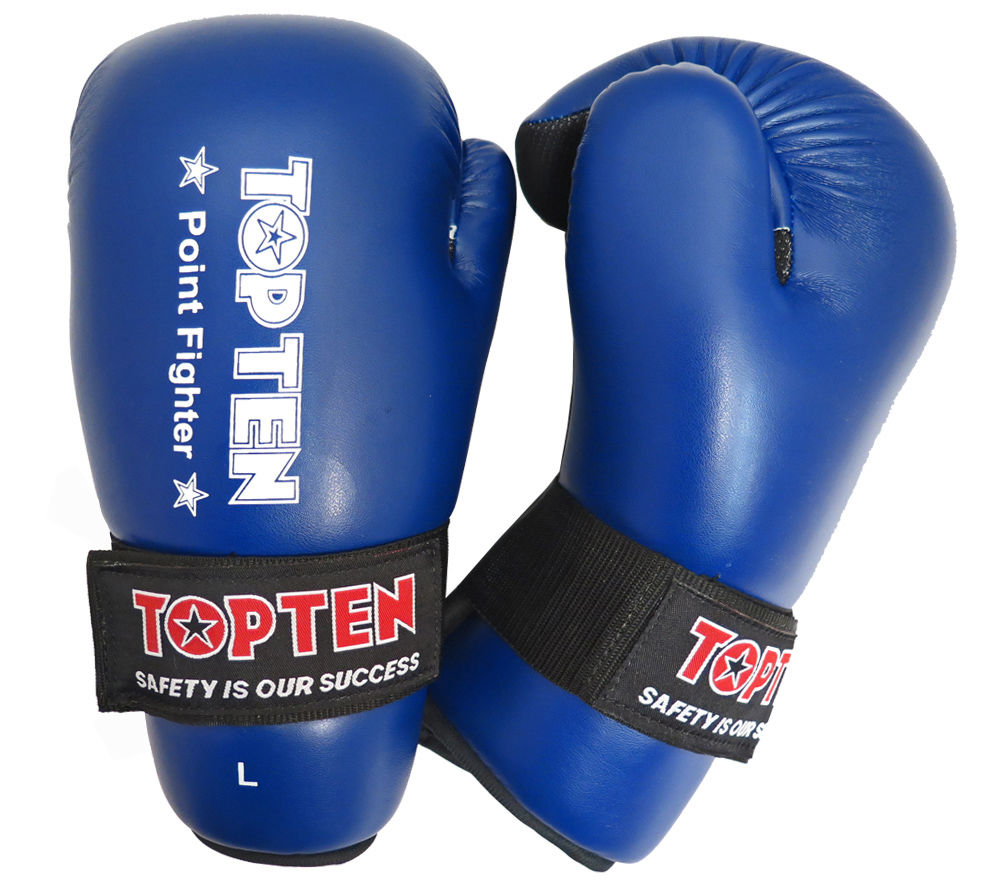 Top Ten Blue Point Fighter Open Hand Gloves