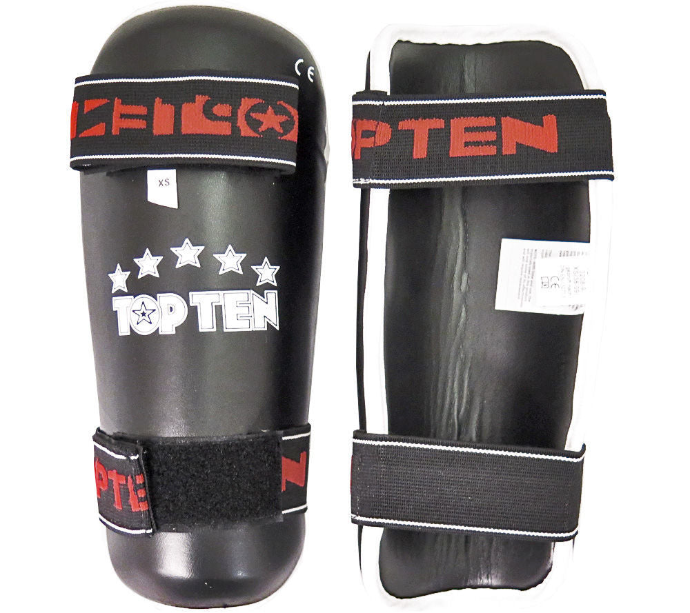 Top Ten KIDS Ultra-light Synthetic Leather Shinguards - Black