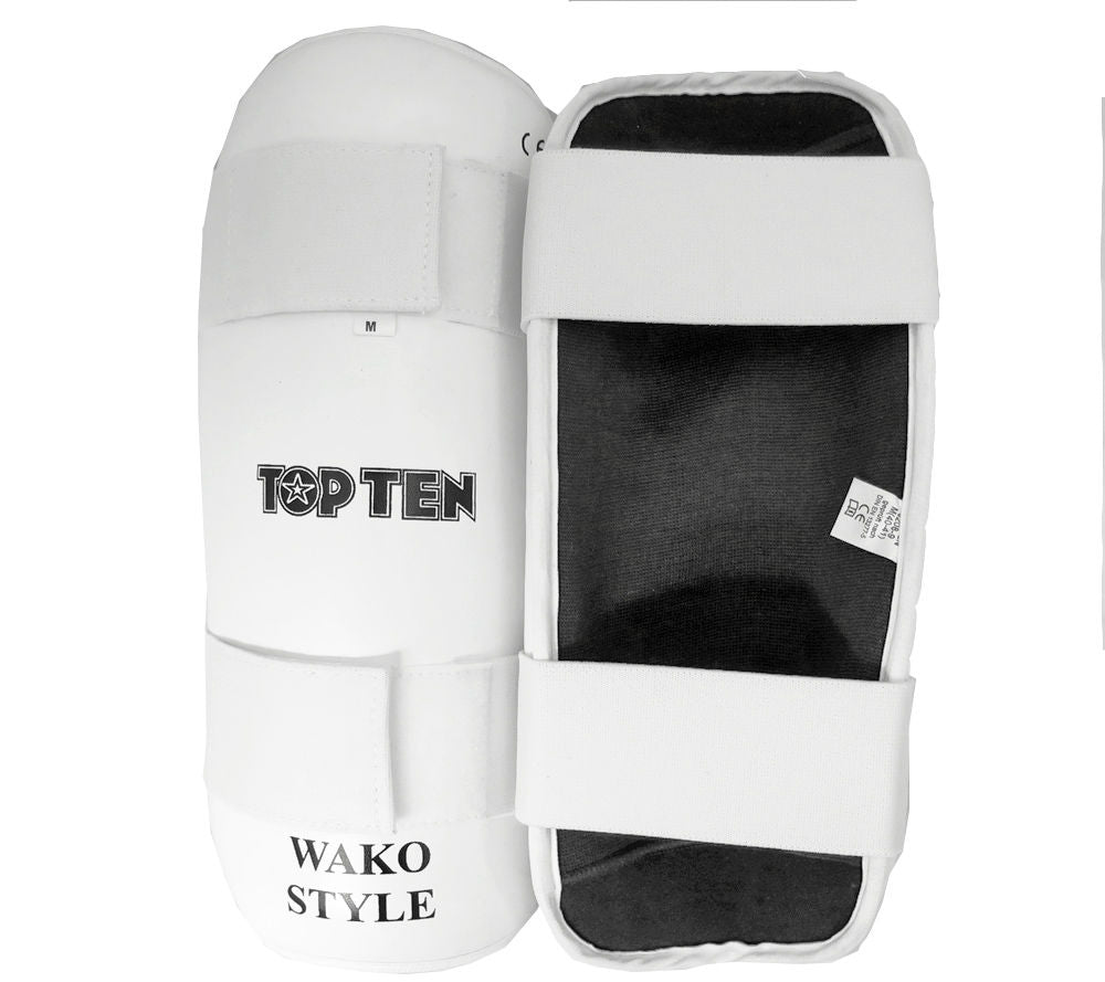 Shin Guard TOP TEN WAKO - white