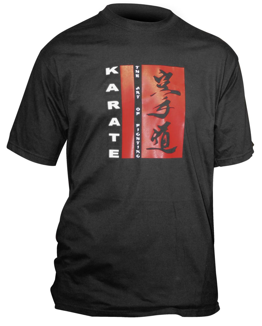 Hayashi Black/Red/White T-Shirt KARATE-DO