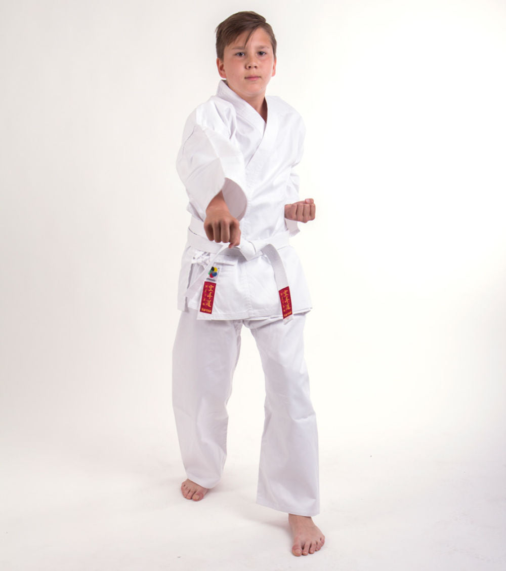 Hayashi HEIAN Lightweight White student uniform - 7oz WKF approved