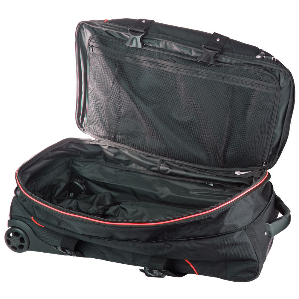 Hayashi - Trolley - Deluxe Wheeled Travel Black/Red Bag