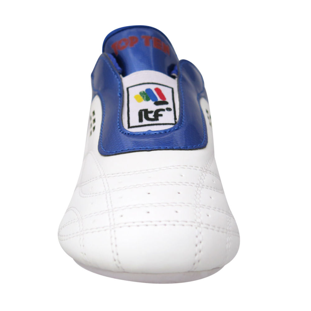 TopTen BUDO ITF Laceless White & Blue Lightweight Taekwon-Do Shoes