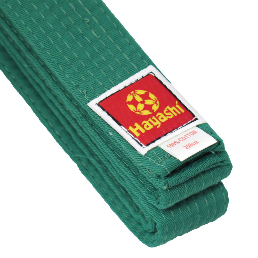 Hayashi Budo Cotton Belt - green