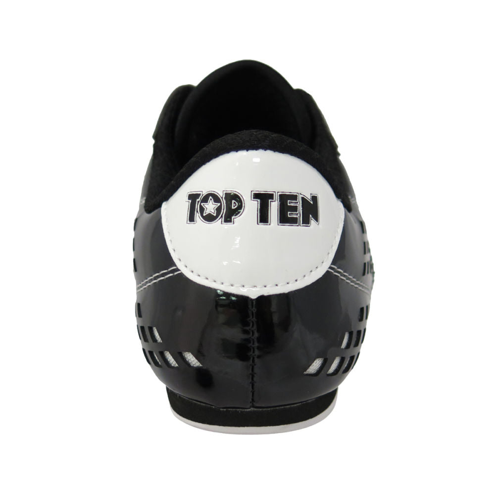 TopTen BUDO Laceless Black & White Lightweight Vented Martial Arts Shoes