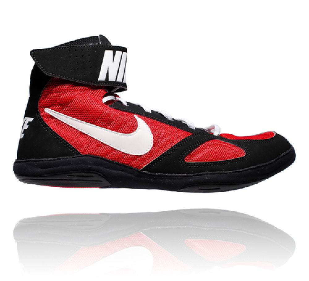 Nike JUNIOR Takedown Wrestling Shoes - red/black/white