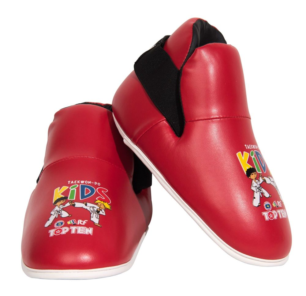 Top Ten ITF Foot Protectors - Kids - red
