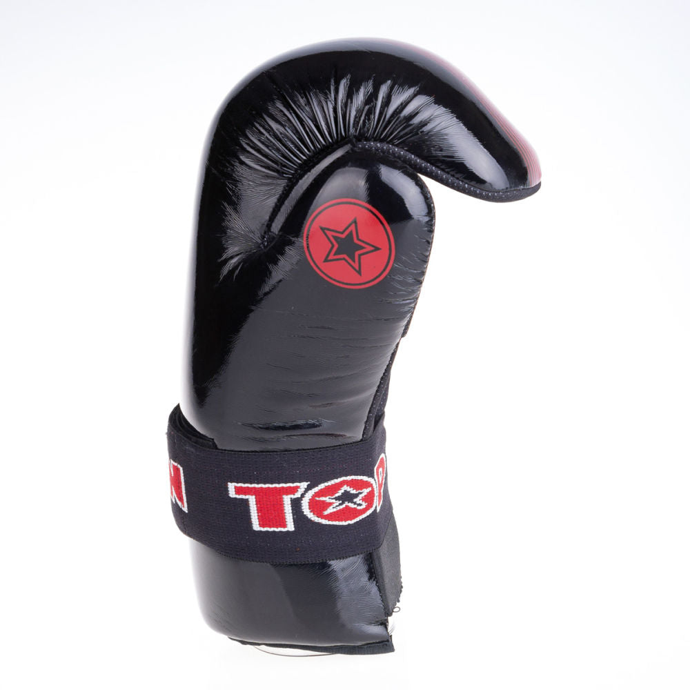 Top Ten Super-light Linear Acceleration Open Gloves - black/red