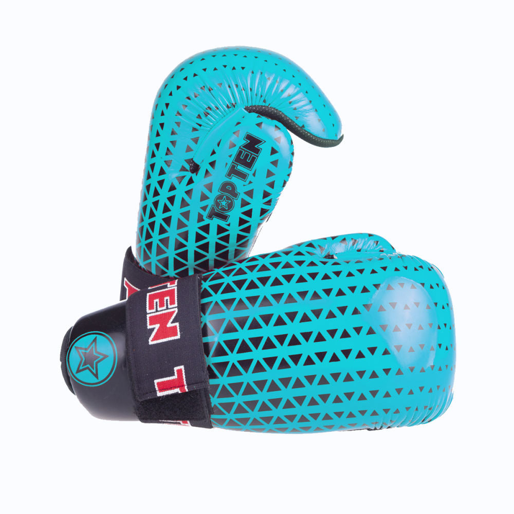 Top Ten Super-light Triangles Open Gloves - aqua green/black