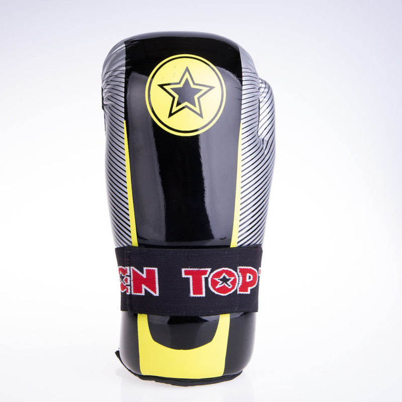 Top Ten Super-light Stars and Stripes Open Gloves - black/yellow/silver
