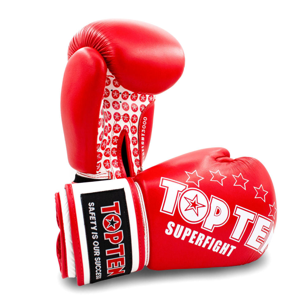 red kickboxing gloves