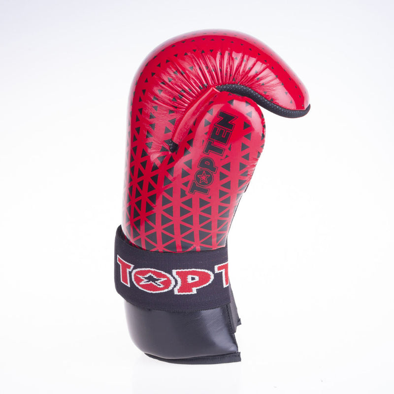 Top Ten Super-light Triangles Open Gloves - red/black