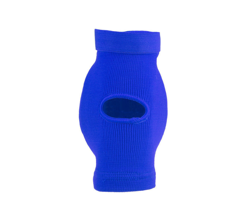 Fighter FF Elbow Guard Blue Oval Cup Protector with Elastic Strap