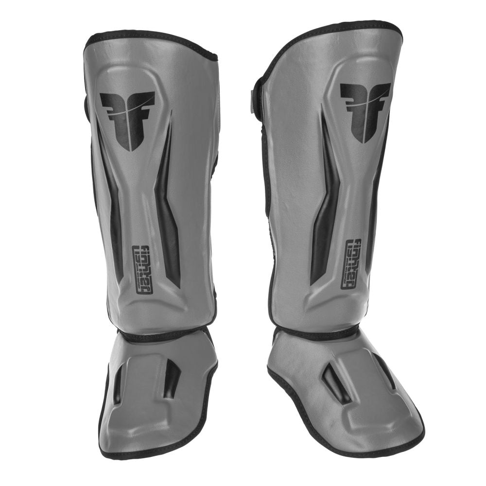 Fighter Shinguards Thai Ergo - grey/black