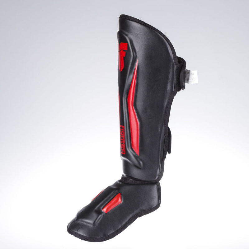 Fighter Shinguards Thai Ergo - black/red