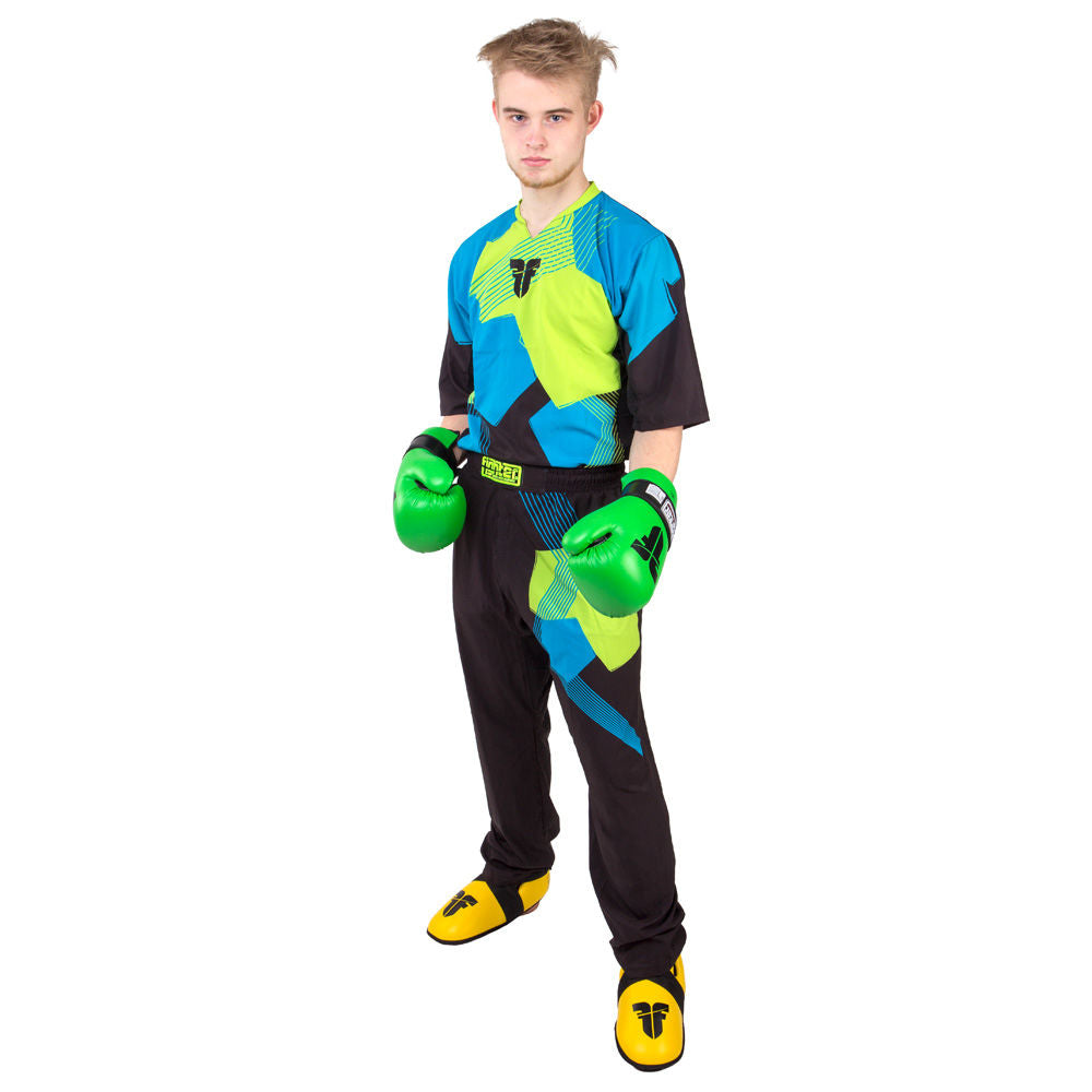 Fighter Uniform - black/blue/neon-green
