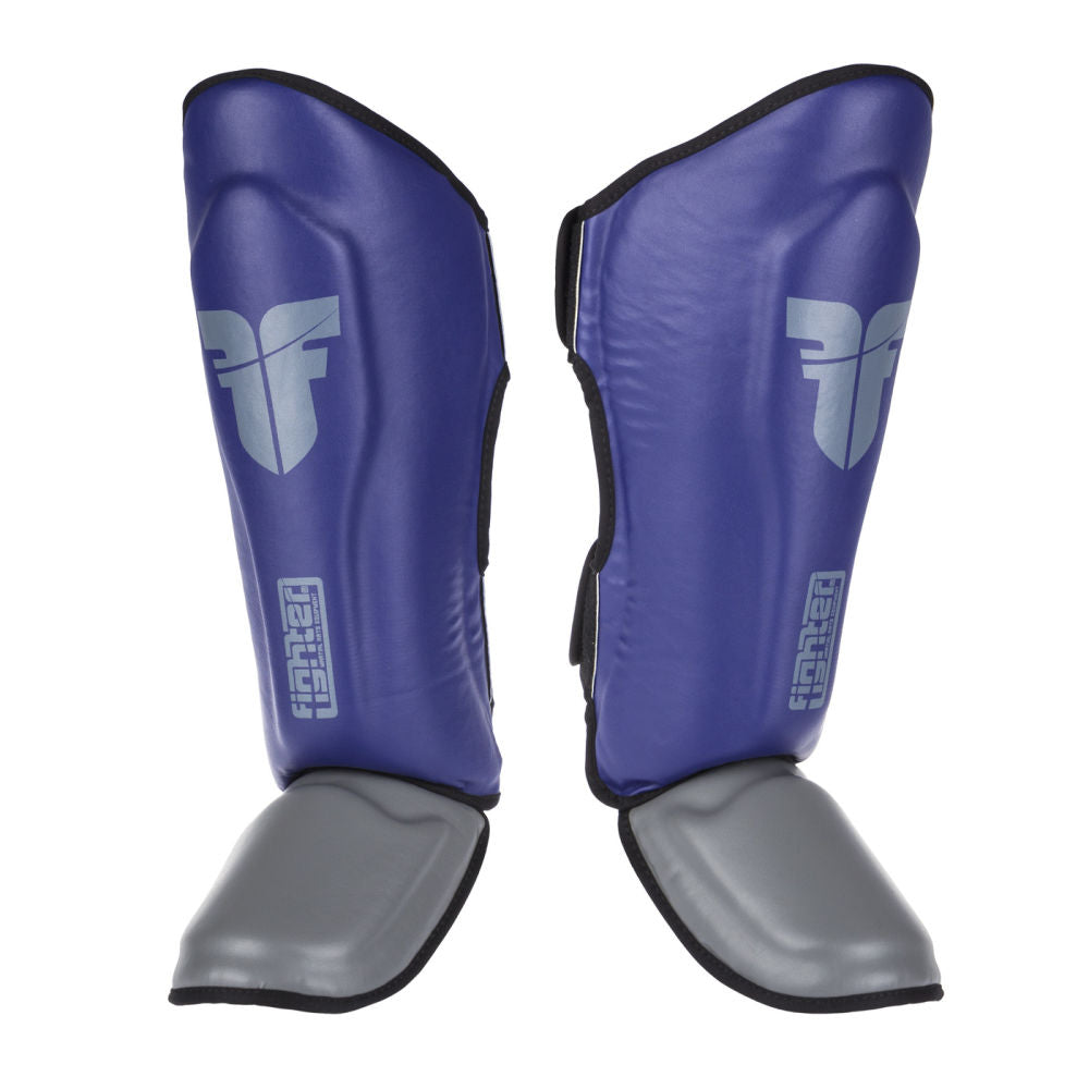 Fighter Thai Classic Shinguards - blue/grey