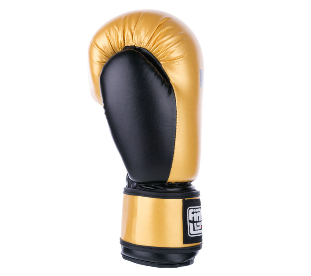 PU Basic Fighter Gloves - gold/black