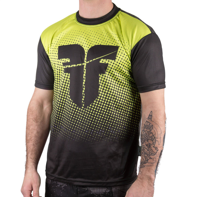 Fighter training T-Shirt - black/yellow