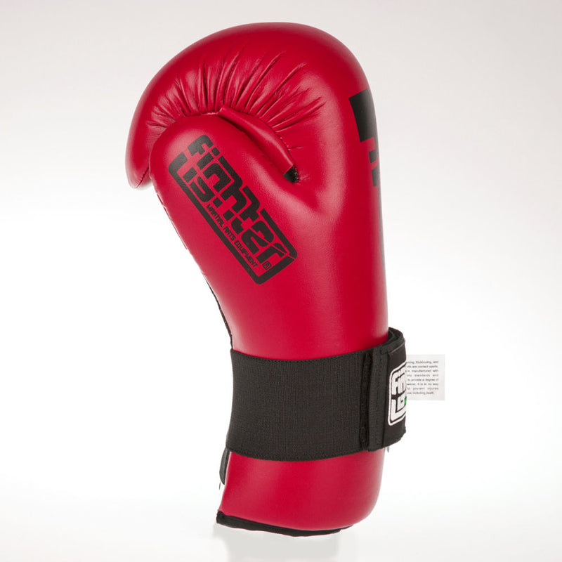 Fighter Strap Open Gloves - red