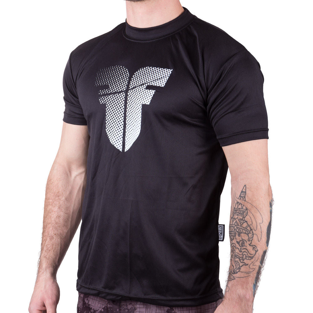 Fighter training T-Shirt - black/white