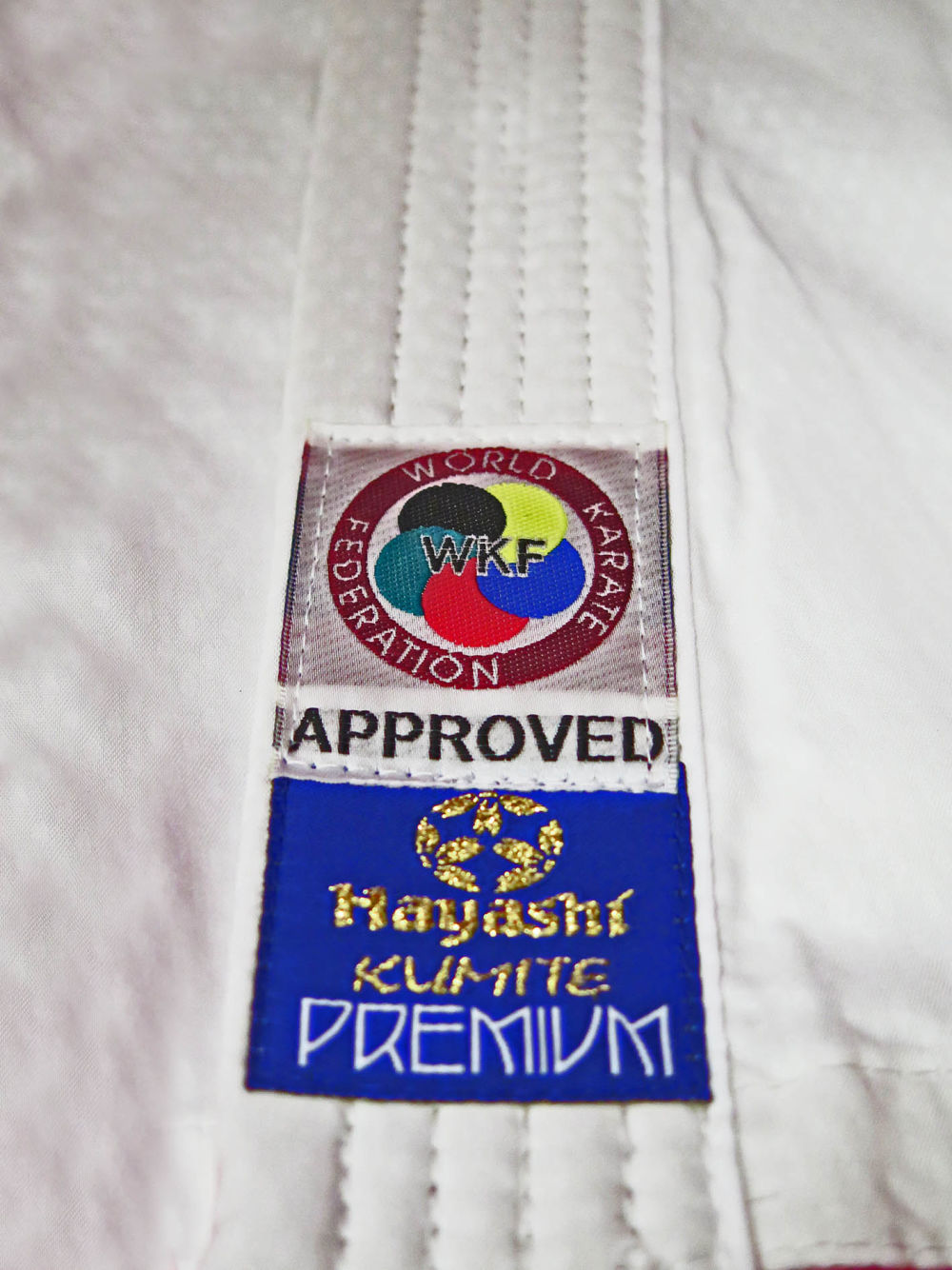Hayashi White Karate-gi PREMIUM KUMITE 100% Polyester Ultra-Light