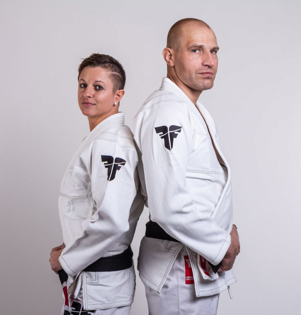 Fighter BJJ Gi Pearl Weave Uniform - white