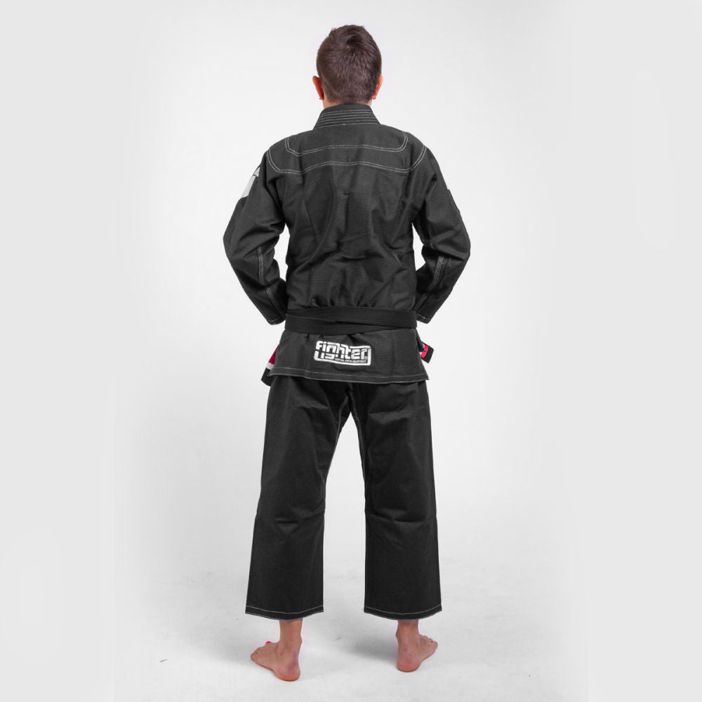 Fighter BJJ Gi Pearl Weave Uniform - black