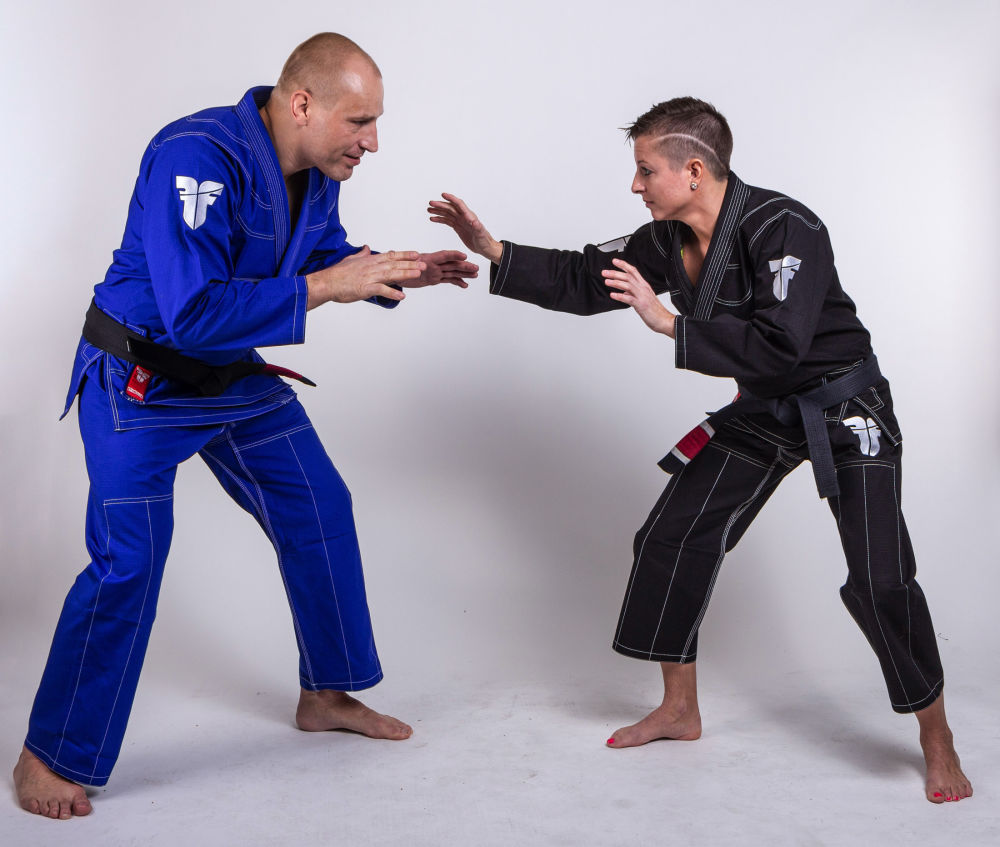 Fighter BJJ Gi Ripstop Uniform - blue