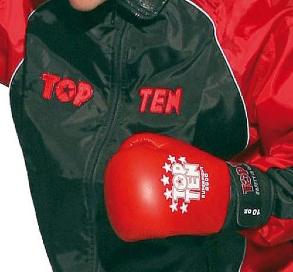 Top Ten Team Warm Up Suit - black/red