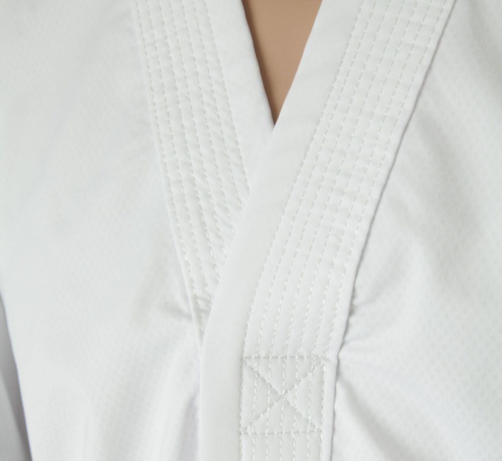 TOP TEN ITF Assistant Instructor Uniform - Premium Gold Dobok White/black