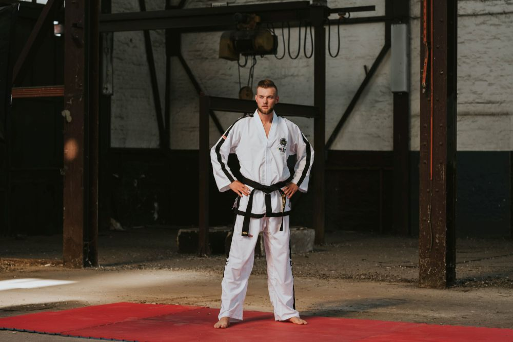 TOP TEN ITF Taekwon-Do Instructor Uniform - Diamond Polyester Dobok