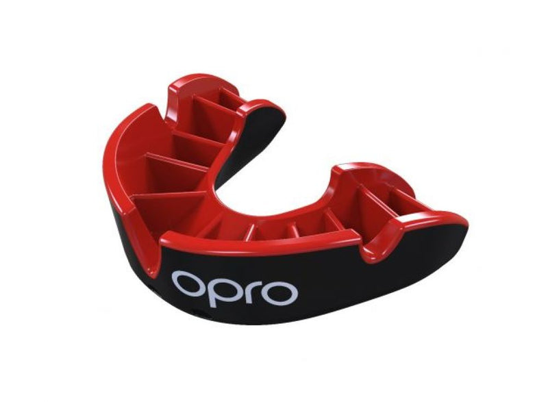 Mouth Guard OPRO UFC SILVER red/black