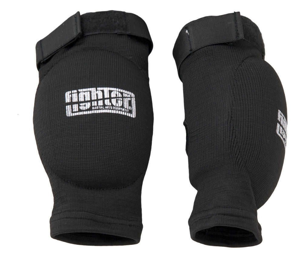 Fighter Elbow Guard Black Oval Cup Protector with Elastic Strap