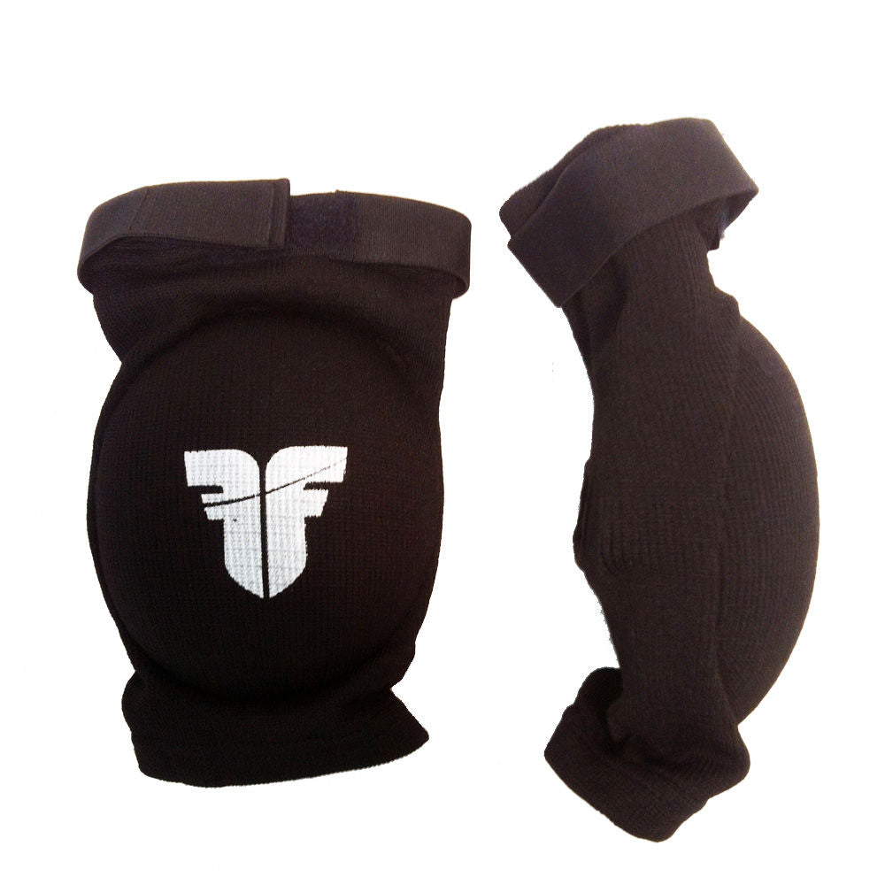Fighter FF Elbow Guard Black Oval Cup Protector with Elastic Strap