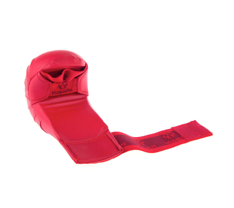 Hayashi WKF Open-Hand Karate Fist Protection Gloves - Red