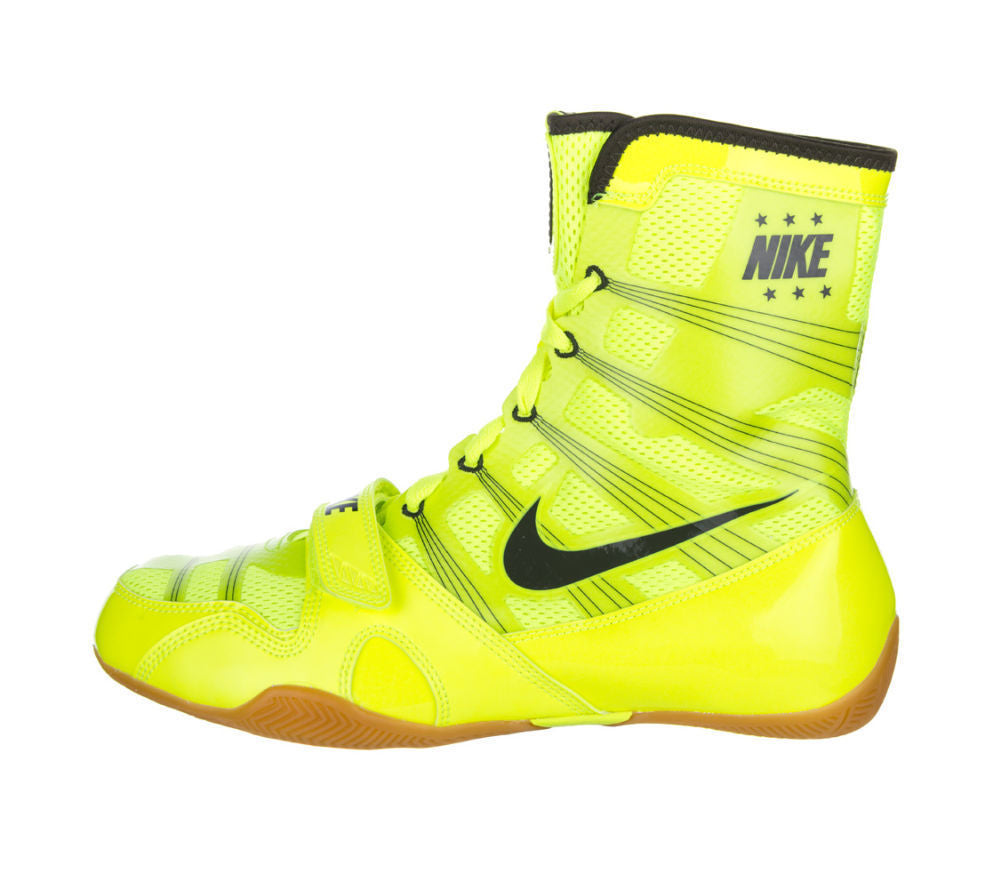 Nike Hyper KO Boxing Boots Boxers Shoes Mens Adults Ring Fight Boots White//Gold