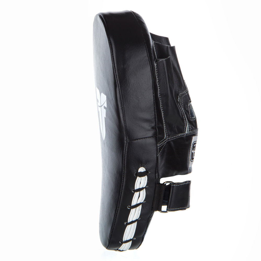 Fighter Focus Mitts - Leather Long - black/white