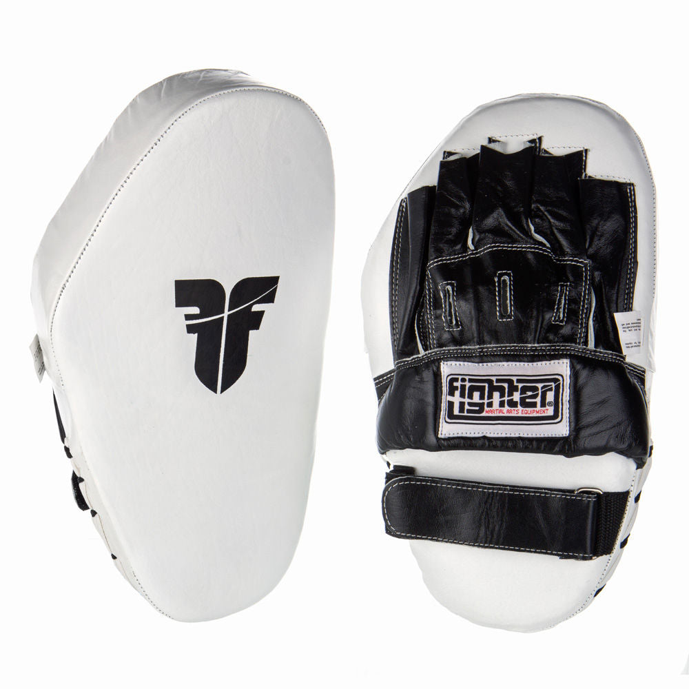 Fighter Focus Mitts Leather Long - white/black