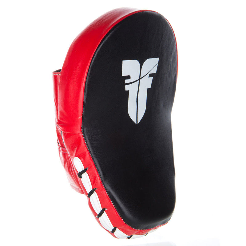 Fighter Small Focus Mitts - Leather - black/red
