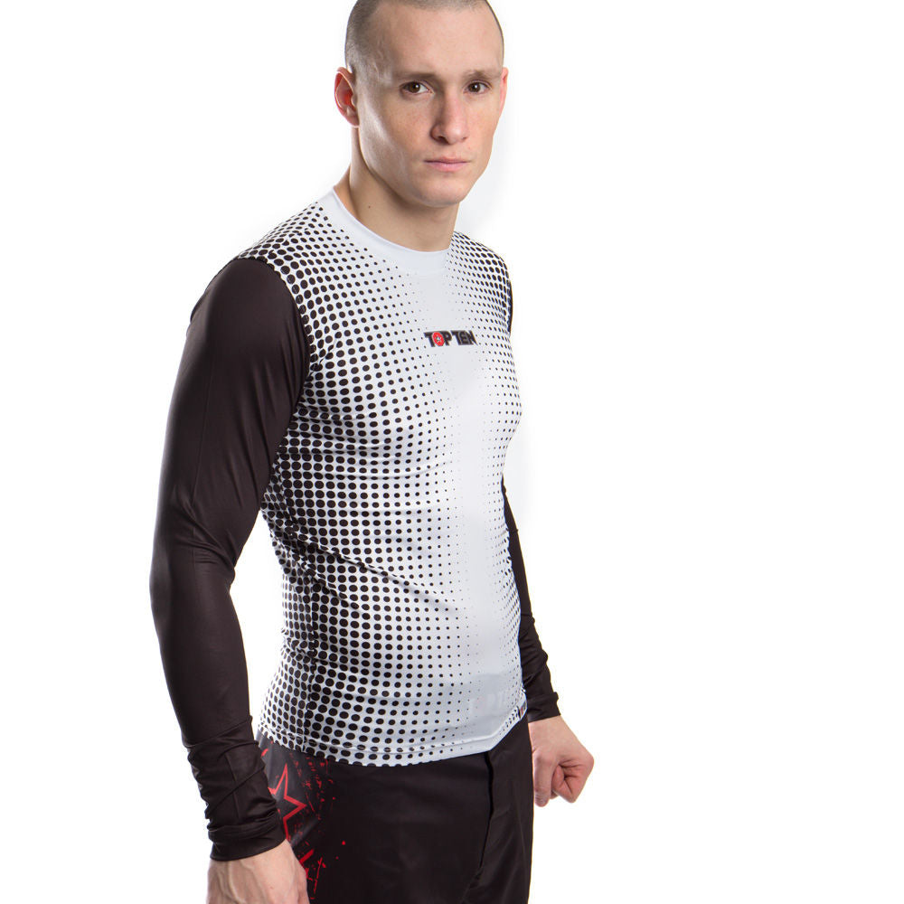 TOP TEN Rashguard Gradient - black/white