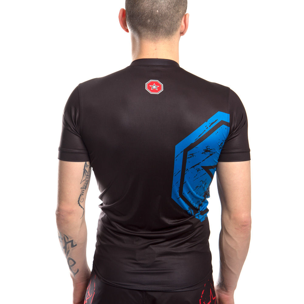 TOP TEN Rashguard SuperStar - black/blue