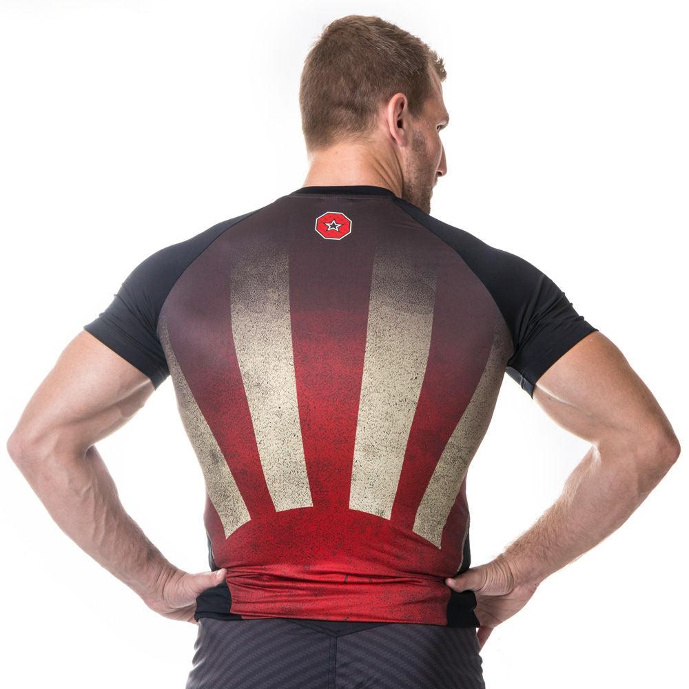 Top Ten MMA SUNRISE Rashguard - black/red