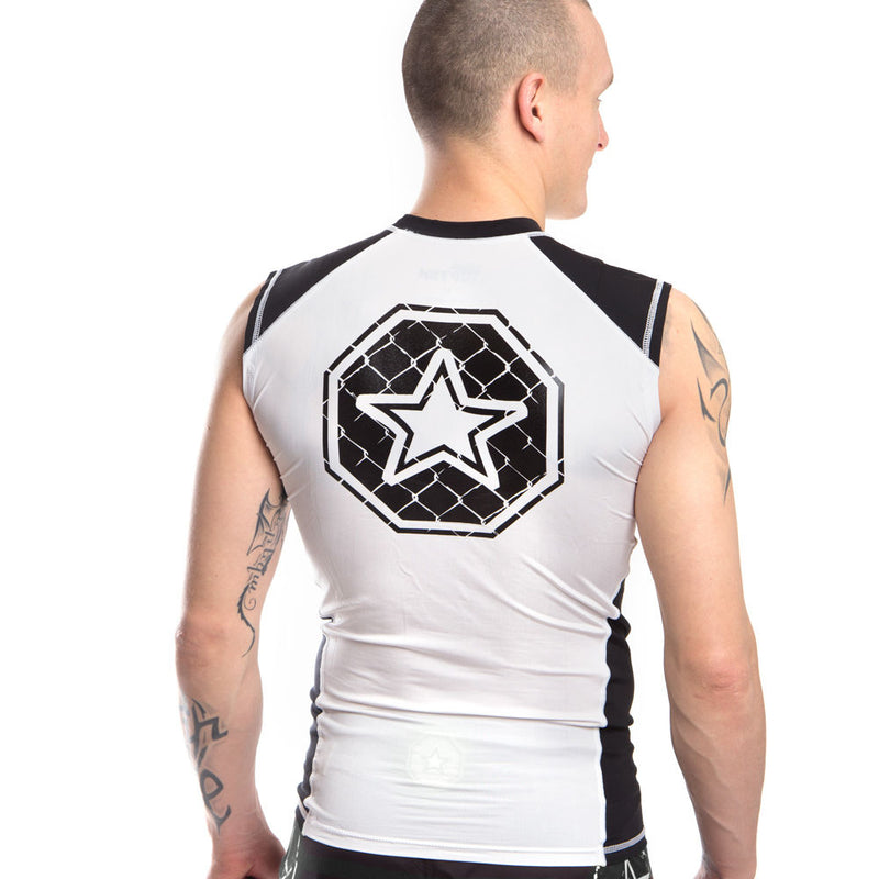TOP TEN Rash Guard Sleeveless - white/black