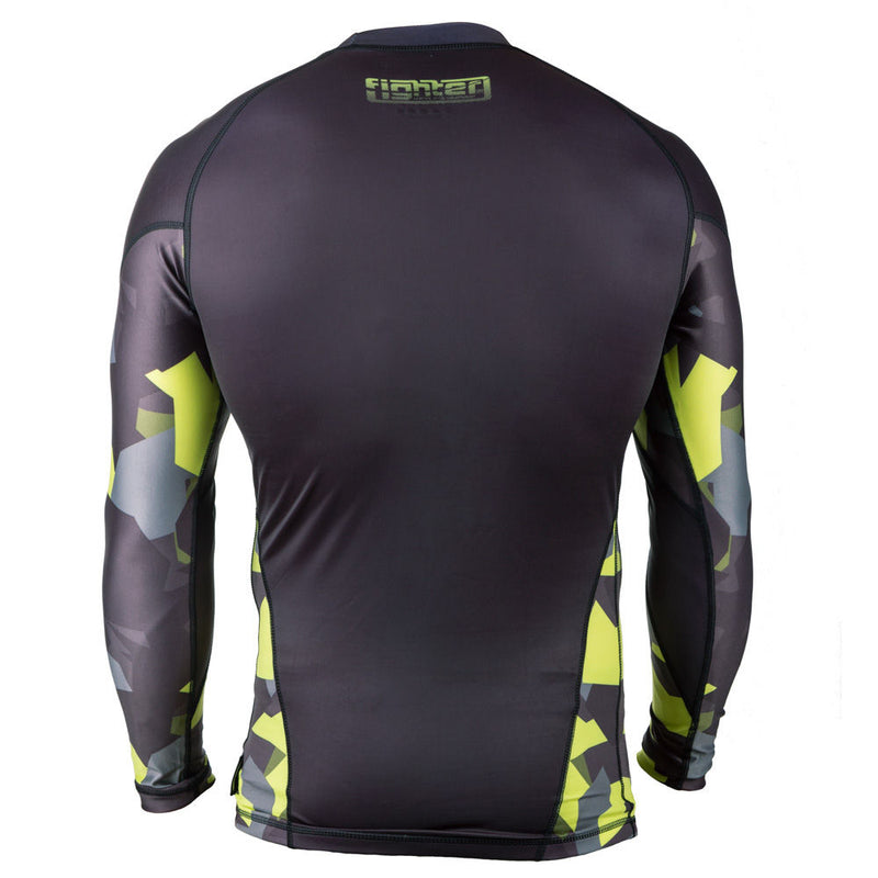 Rashguard Fighter long sleeves - black/Camo