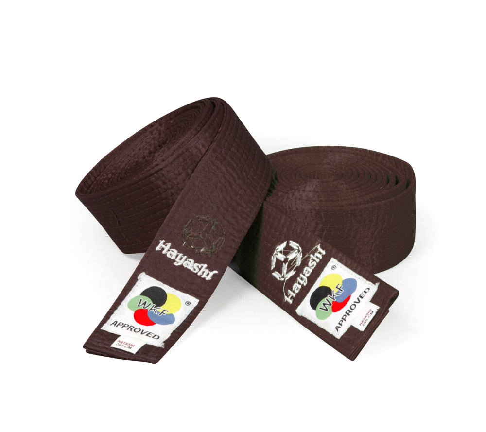 Hayashi WKF Satin Brown Belt