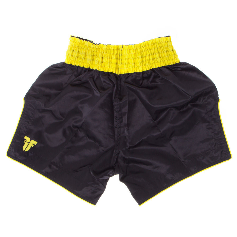 Fighter Thai Shorts FACE - black/yellow
