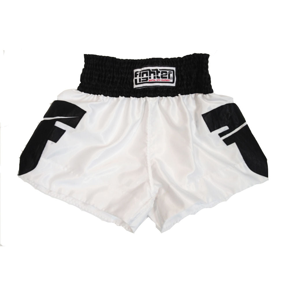 Fighter Thai Shorts - white/black