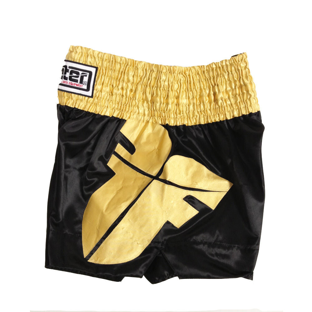 Fighter Thai Shorts - black/gold
