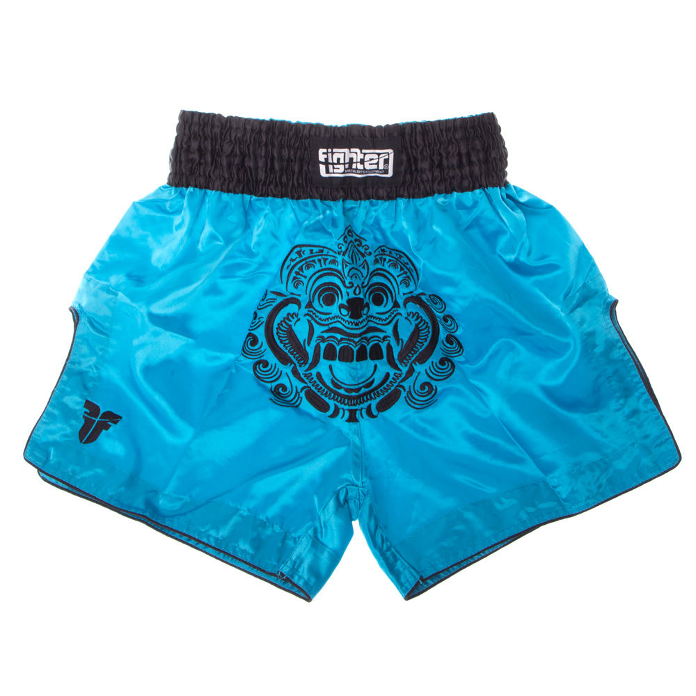 Fighter Thai Shorts FACE - blue/black